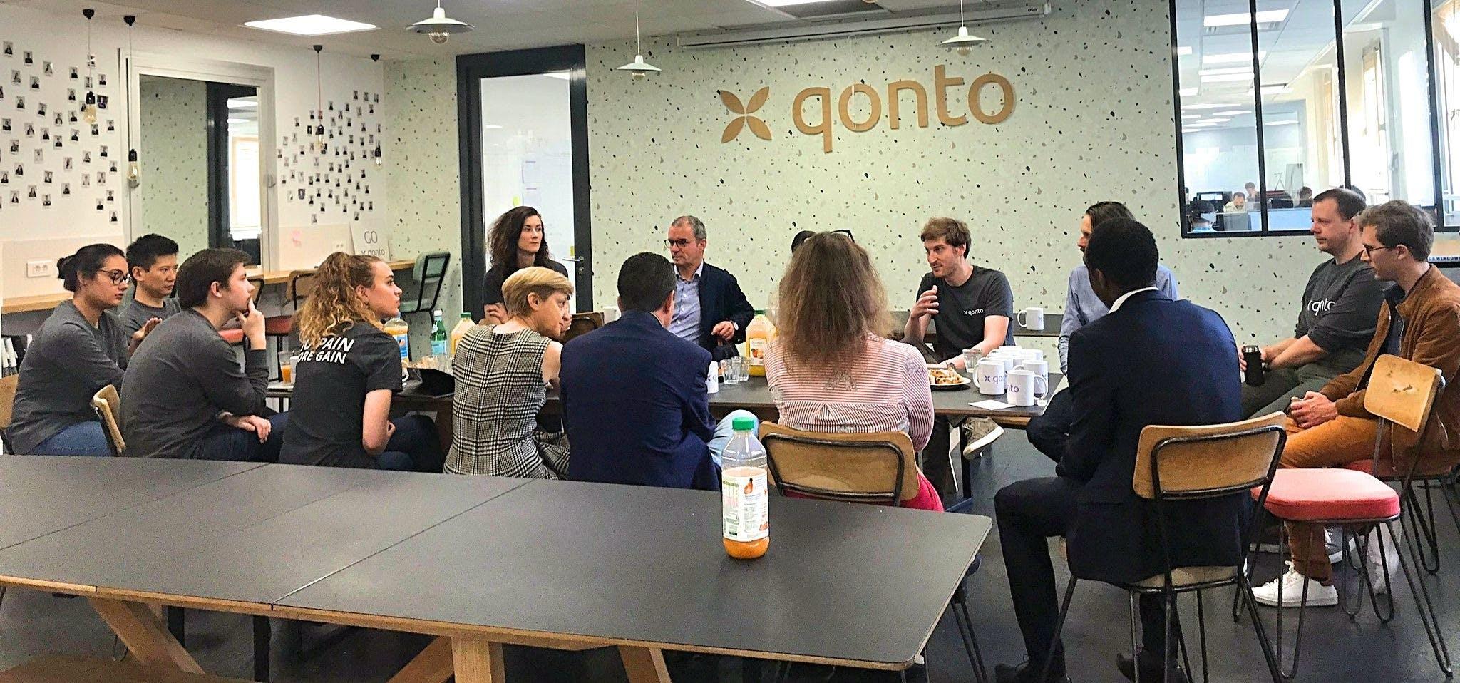petit-déjeuner utilisateurs Qonto