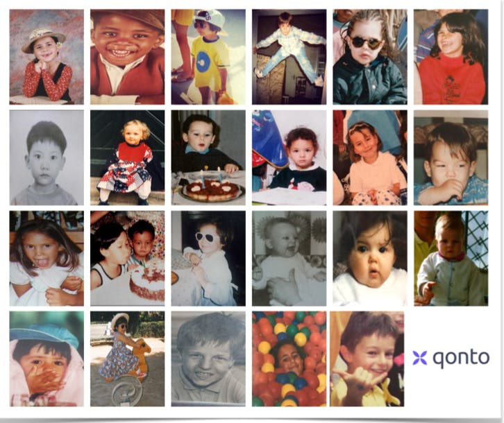 Concurso de fotos de bebés del equipo de Qonto