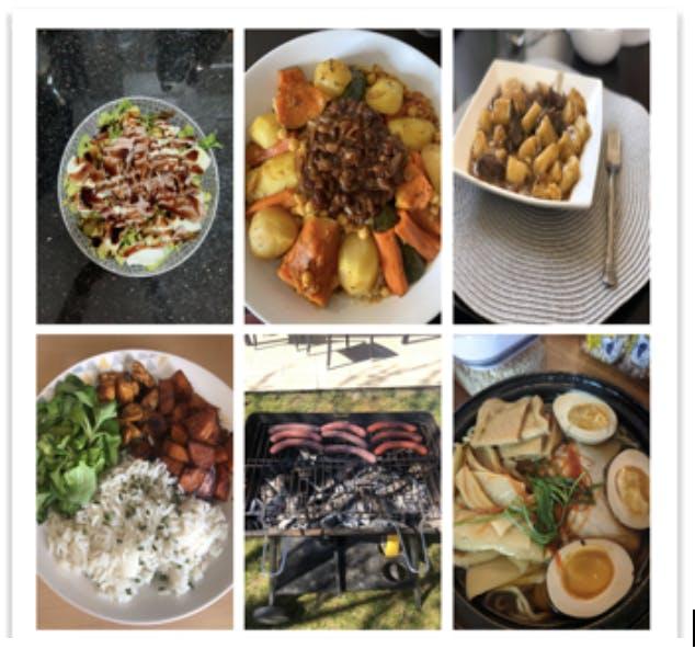 Concurso de comidas al mediodía