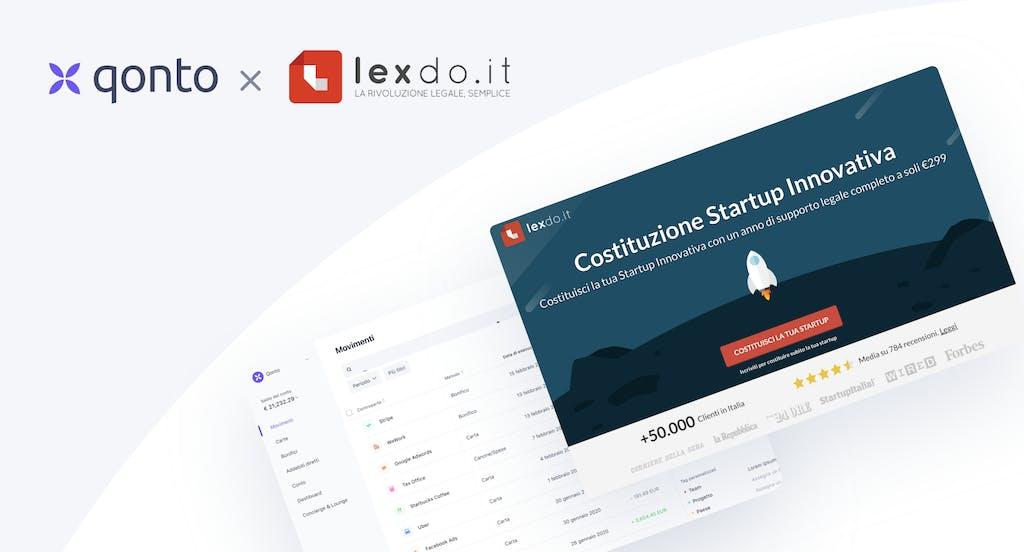 Qonto con LexDo.it per sostenere la costituzione di imprese 100% digitale
