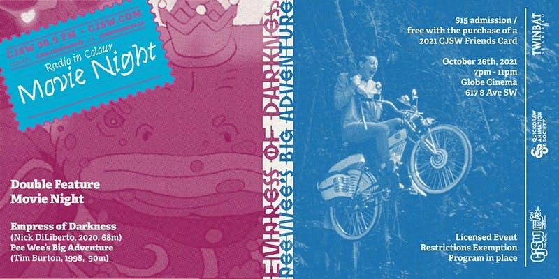 Stills from Nick DiLiberto's Empress of Darkness and Tim Burton's Pee-wee's Big Adventure