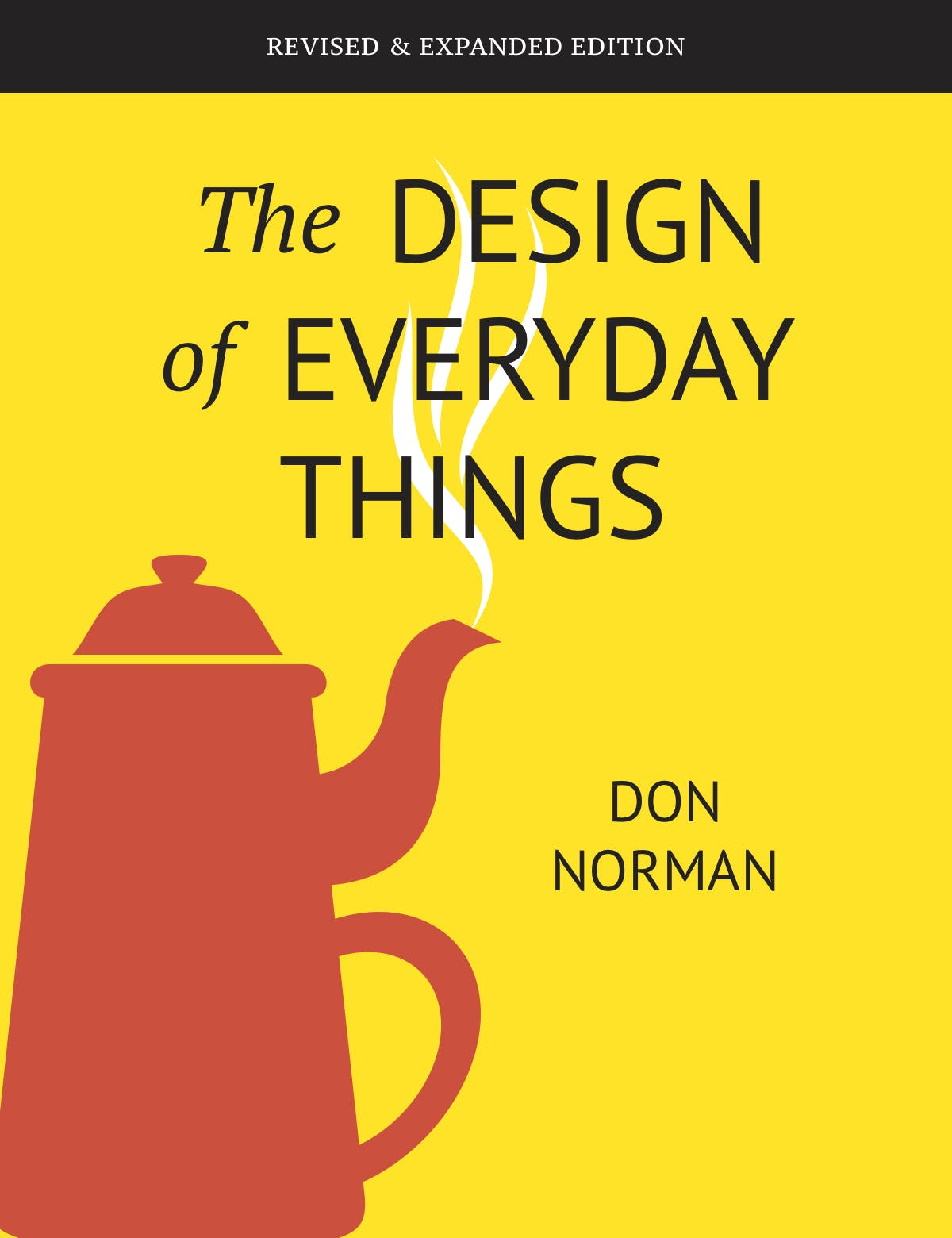 a yellow book with a red pot written by don norman