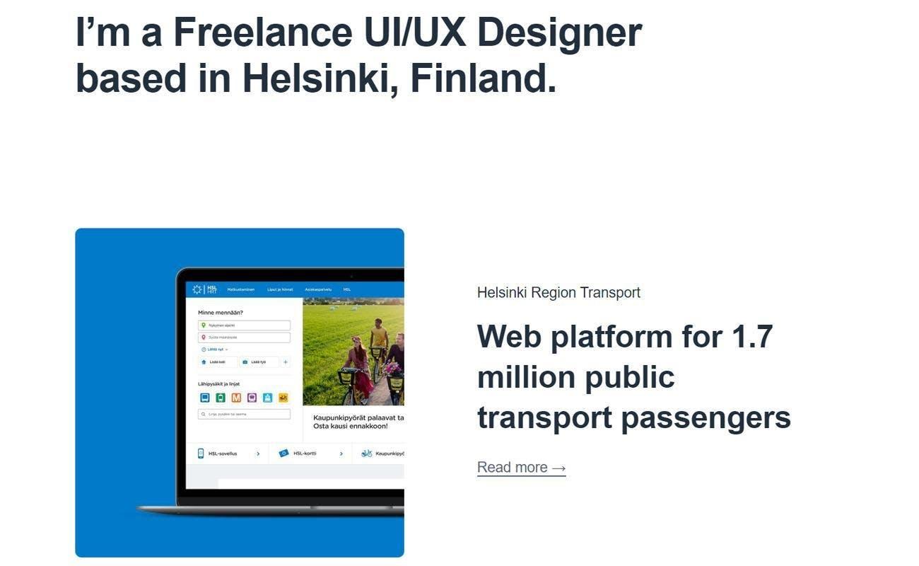 Aleksi Tappura ux designer prototyping white background helsinki transport passengers laptopscreen