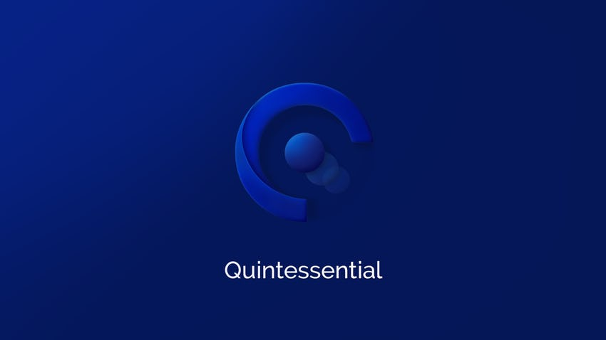 Blue logo quintessential