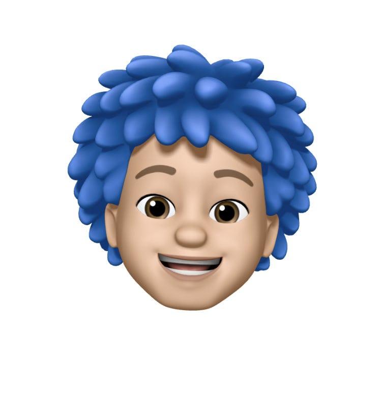 avatar blue hair happy