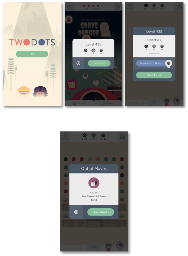 two dots game interface