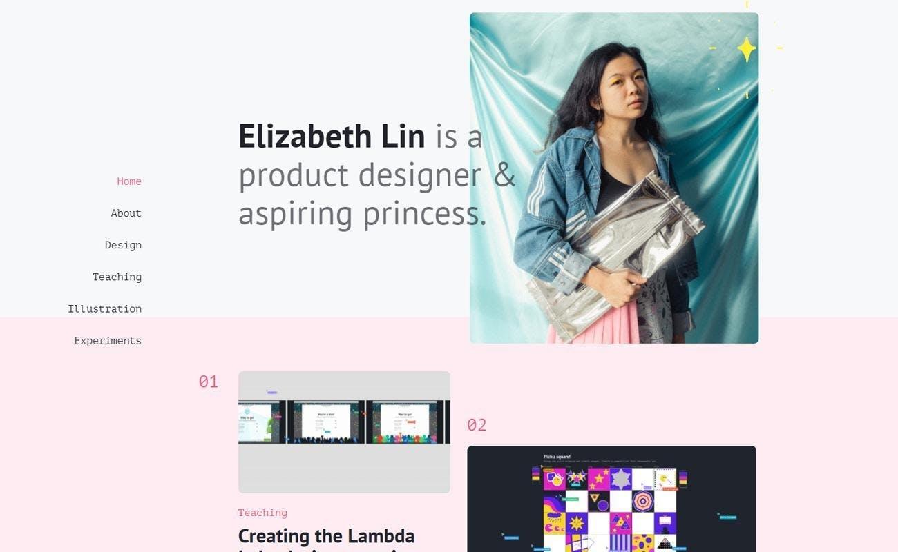 Elizabeth Lin ux designer product white woman face black hair