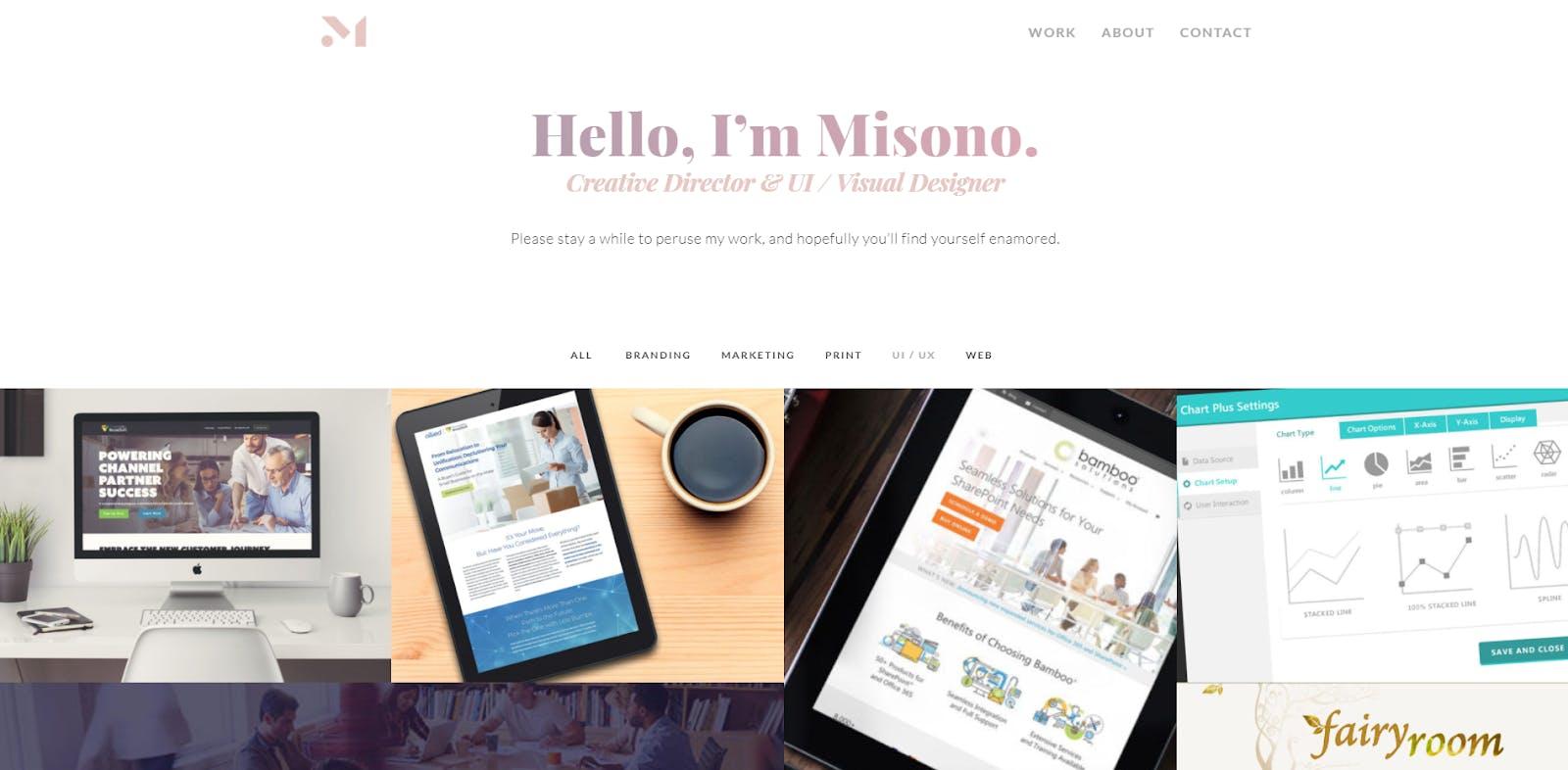 landing page creative director Misono Yokoyama Allen designer