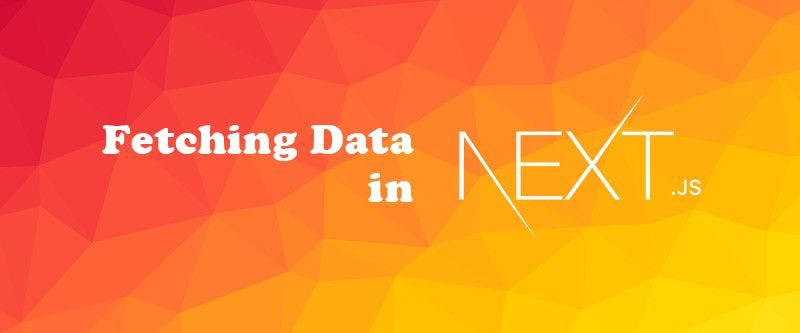 red-orange background with white letters and the logo of next js