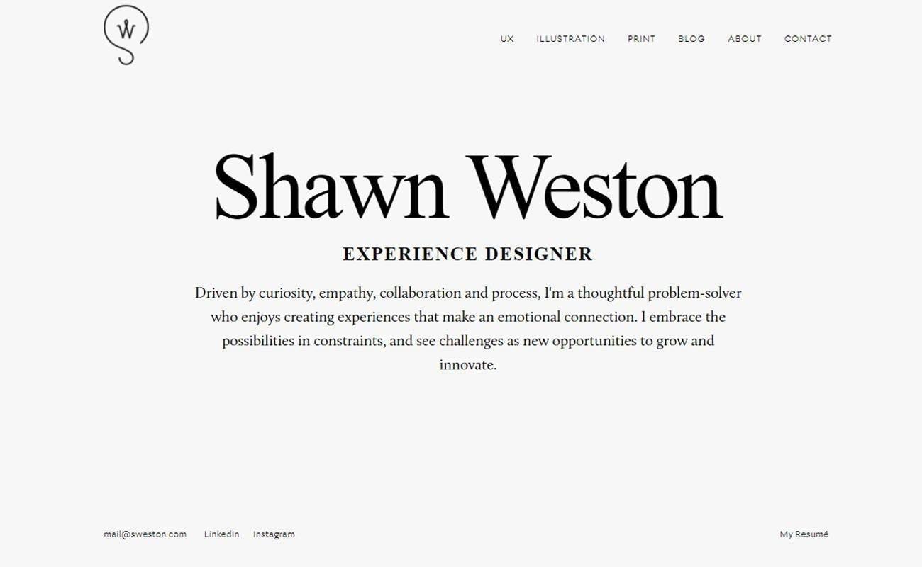 Shawn Weston designer creative director innovator white background