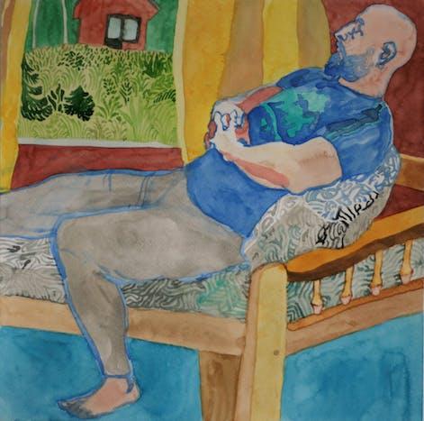 Koivikkoranta - watercolor on paper, 30 x 30 cm, 2019