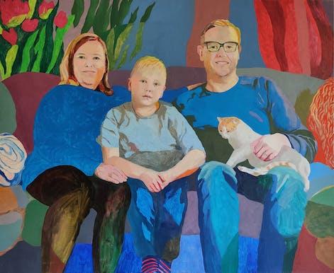 The Kontiainen family - oil on canvas, 90 x 110 cm, 2020