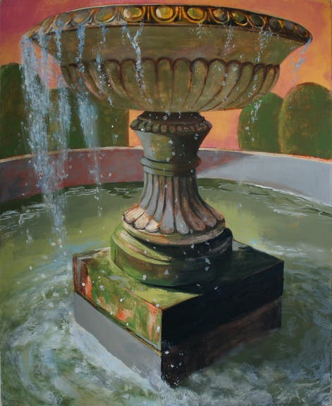 The Portrait of the Fountain - tempera on canvas, 99 x 81 cm, 2017