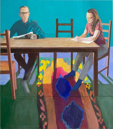 Isä ja äiti - oil on canvas, 160 x 140 cm, 2019