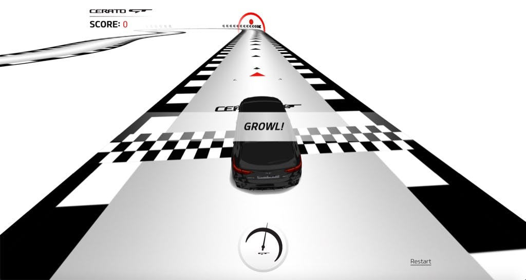 Kia CeratoGT interactive game