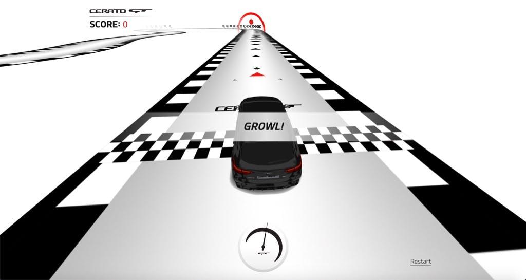 Kia CeratoGT interactive game