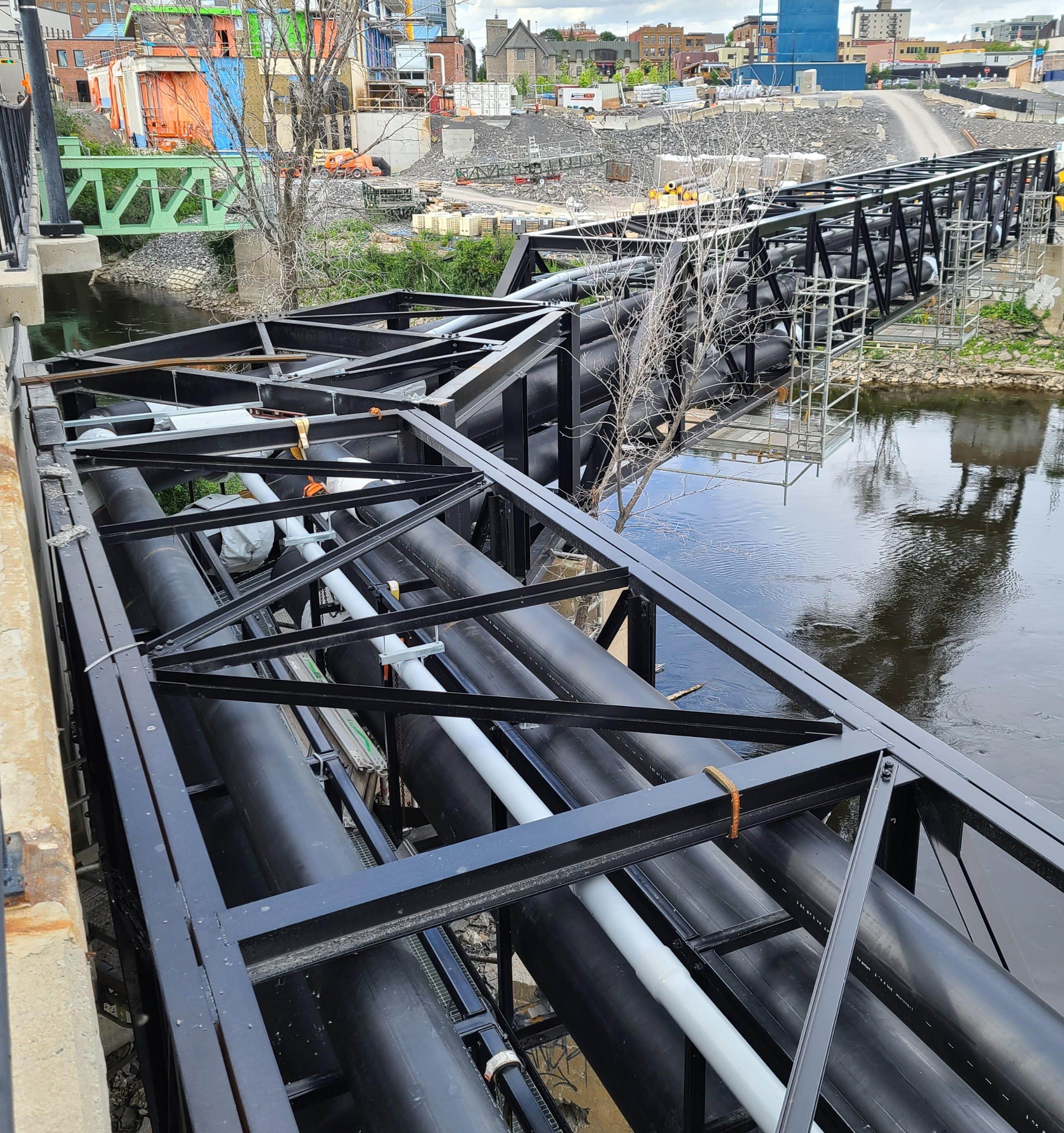 EN253 District Energy Piping Bridge Heating Cooling Ambient