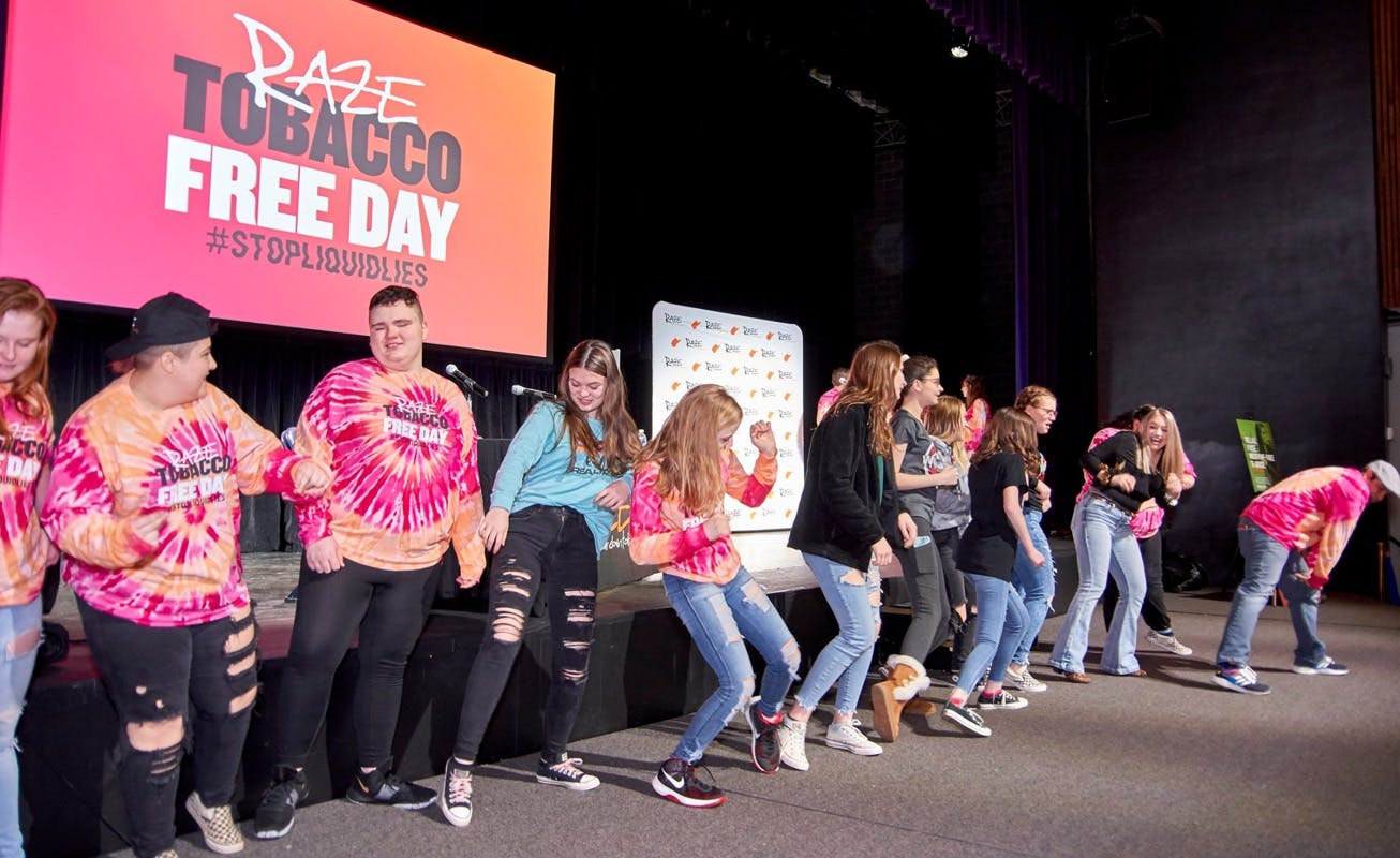 Raze Tobacco Free Day Teens on Stage