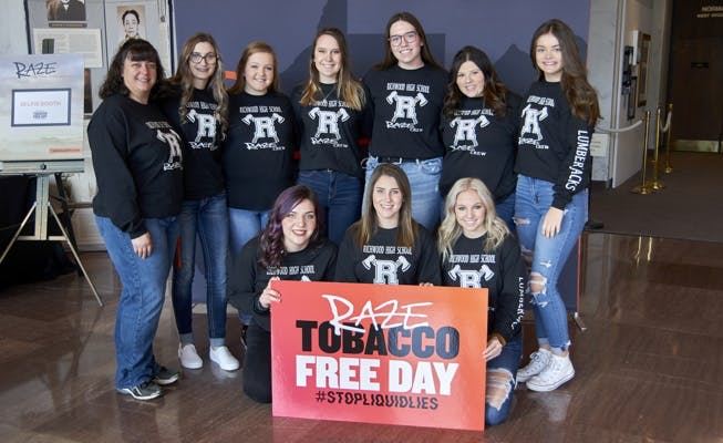 Raze Tobacco Free Day Teenagers