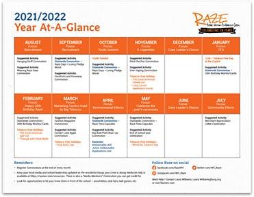 2021/2021 Year At-A-Glance Calendar