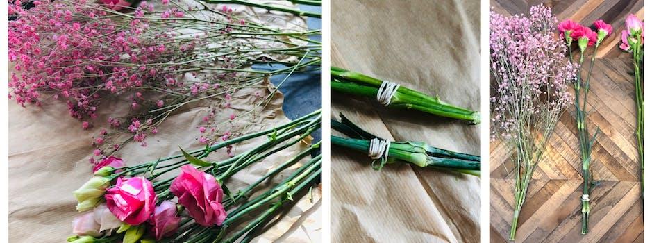 Zelf boeket bloemen drogen