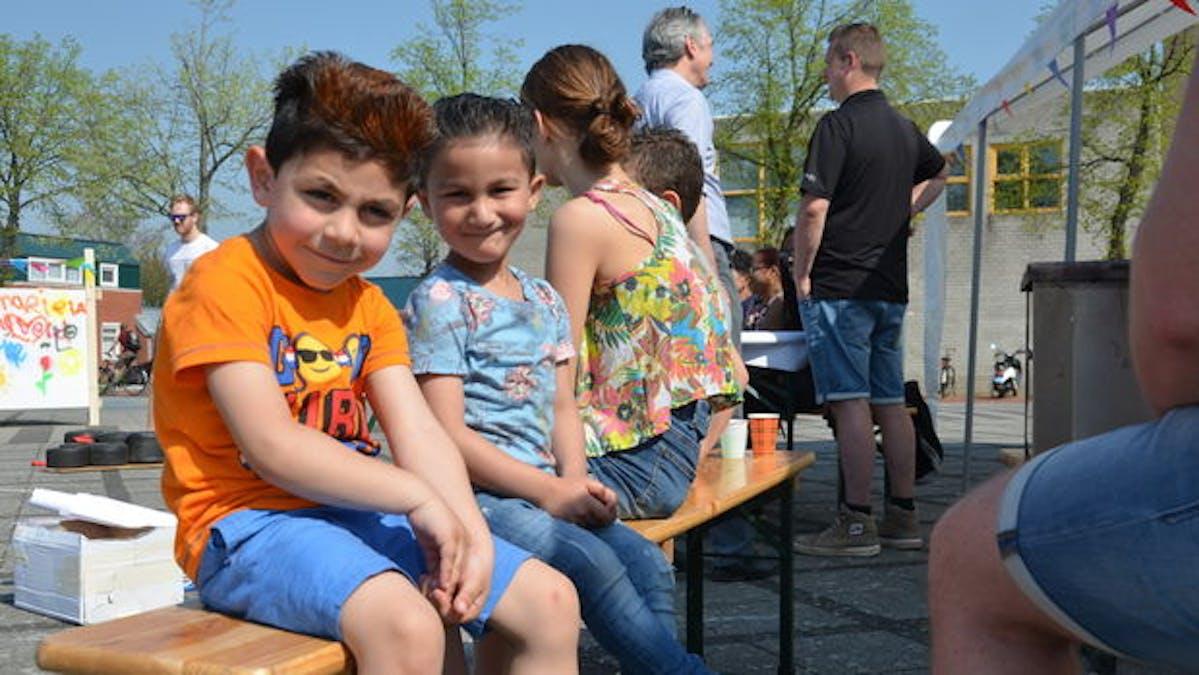 Ook de kinderen dachten mee over het plein.