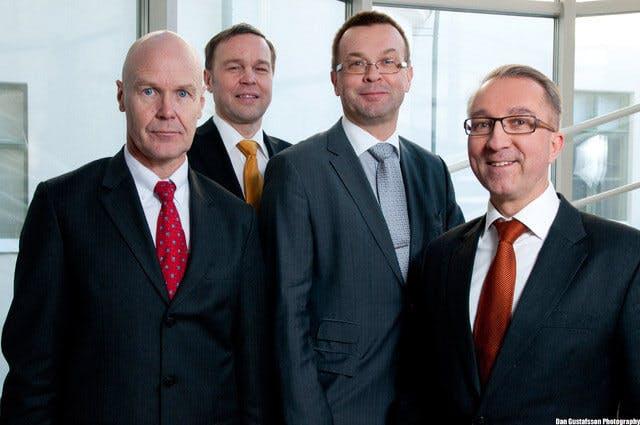 Markku Kaijala, Lasse Pehto, Lauri Sipilä, and Mikko Setälä from Pro-Source Oy
