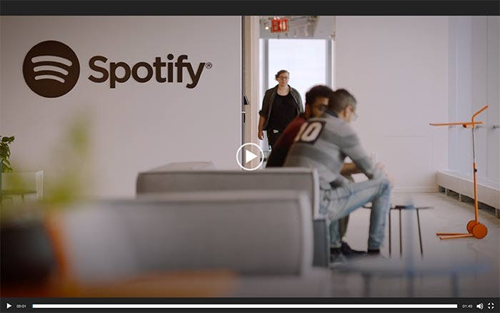 Employer branding example: Spotify