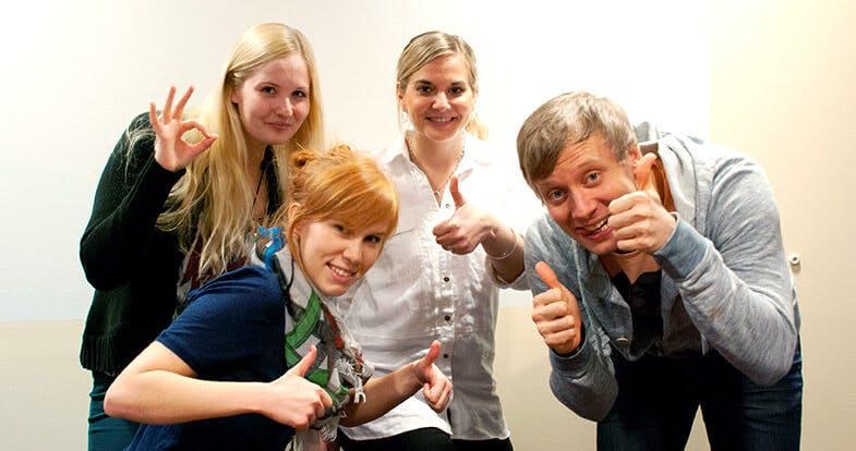 Olli Sahala and colleagues from Suomen Lähikauppa