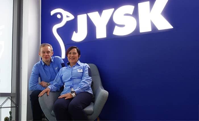 Jonathan and Leena from JYSK