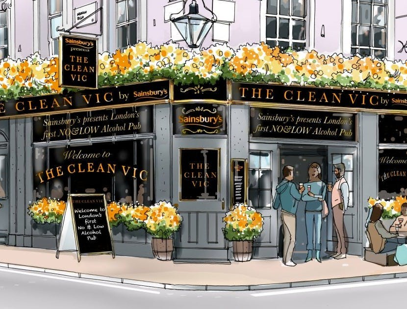 Sainsbury's pop-up pub The Clean Vic capitalises on the growing market for no and low alcohol products
