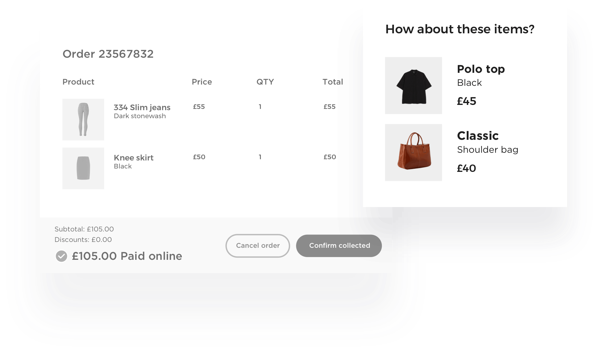 RetailOS smart recommendations for click and collect customers