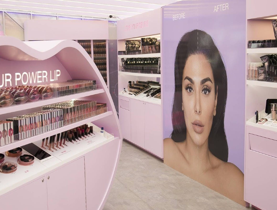 Huda Beauty's first-ever pop-up store in London's Covent Garden featured spectacular decor and a dedicated Instagram room