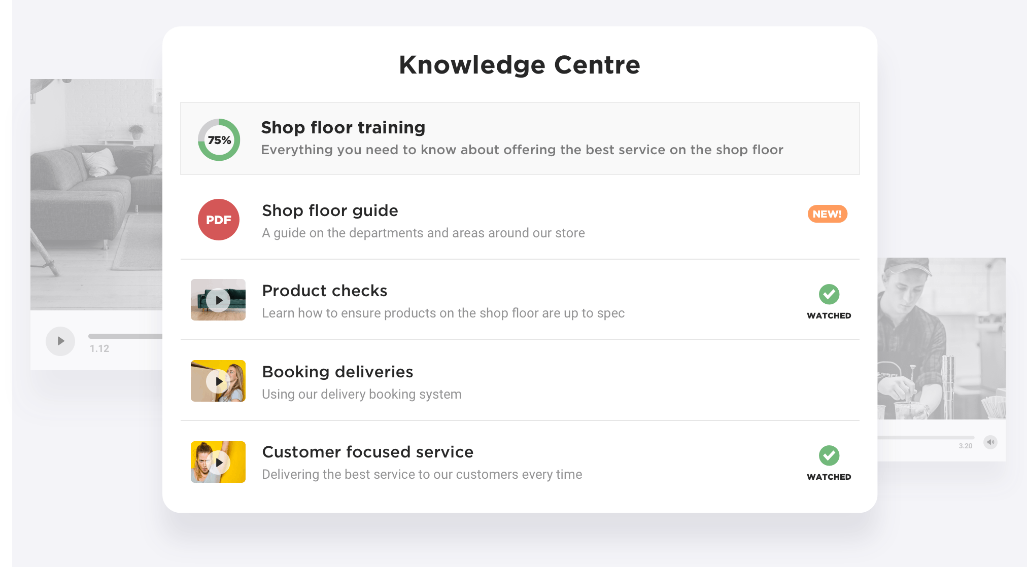 RetailOS employee knowledge centre
