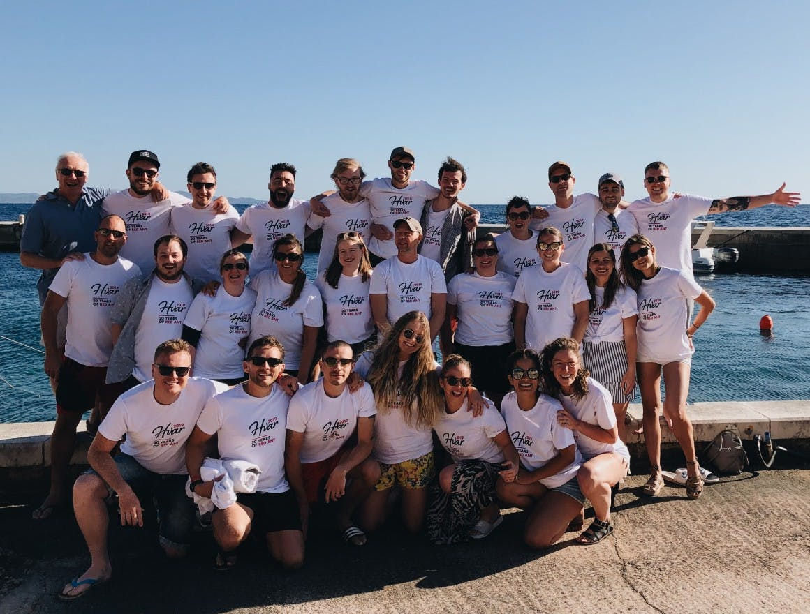 The Red Ant team at our 2019 Conference in Hvar, Croatia