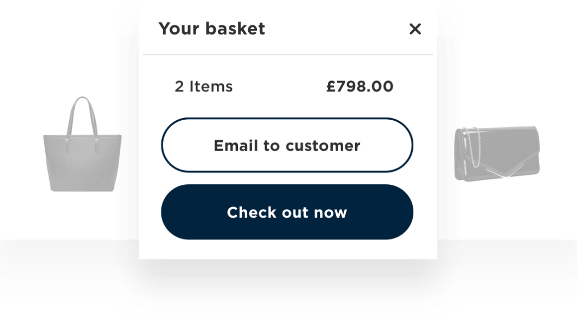 RetailOS checkout and complete at home