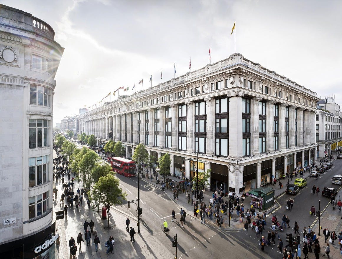 Selfridges sales have increased due to their investment in the in-store customer experience
