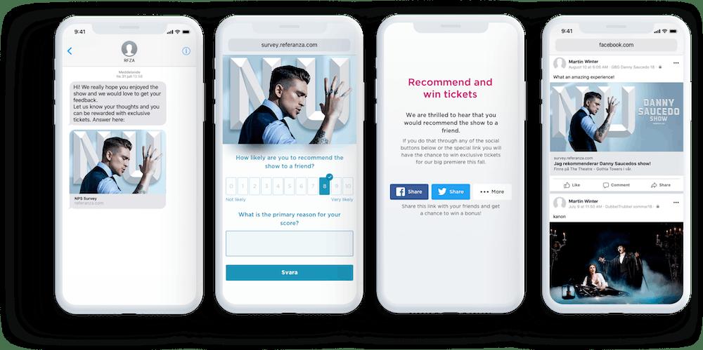 Danny Saucedo NPS Survey SMS campaign