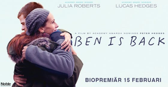 Movie Ben is Back fronting Julia Roberts and Lucas Hedges