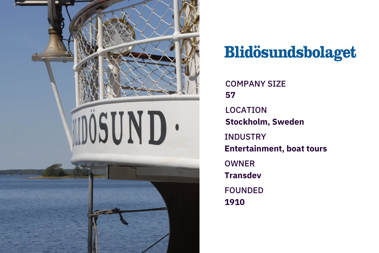 Close up of music cruise ship s/s Blidösund