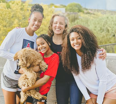 Reiko Mia Williams with her family
