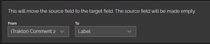 Comment 2 field in the Track Editor