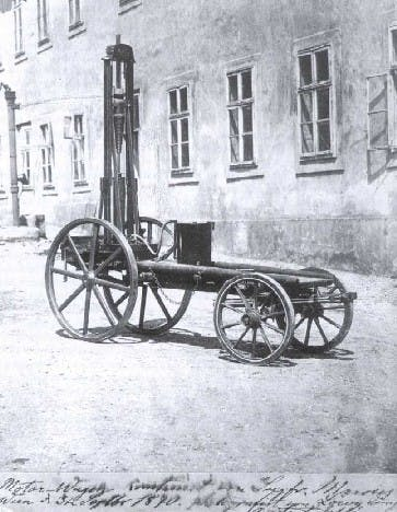 Der Motorwagen I von Siegfried Marcus, womöglich um 1870 herum.