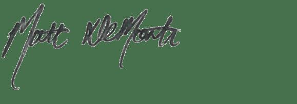 Matt DeMonte signature