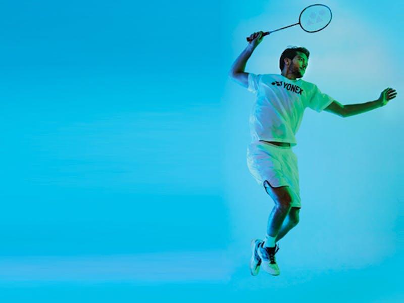 Auglýsing fyrir badminton