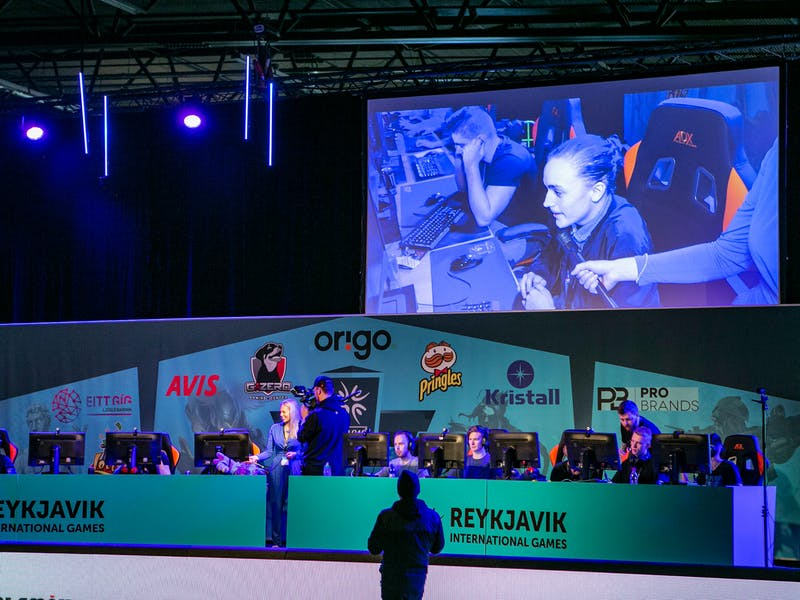 Esports competition at Laugardalshöll sports hall