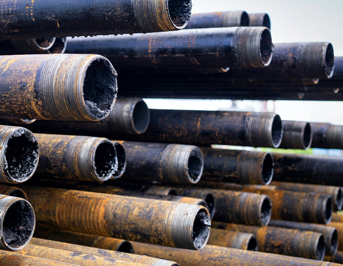 Pipeline supplies for repair.
