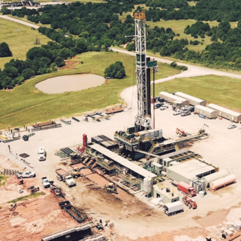 An oil & gas drilling site.