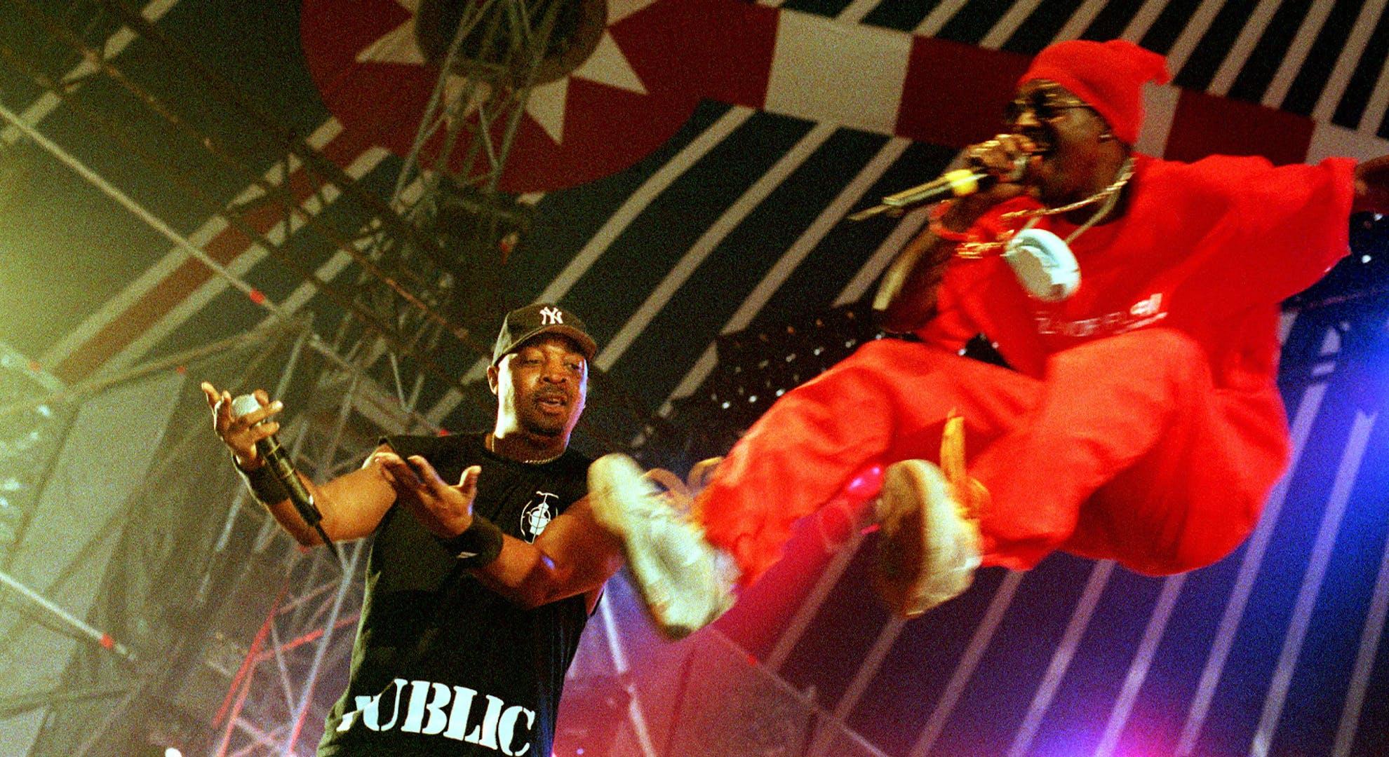 Chuck D & Flava Fla perform in the Netherlands circa 2000.