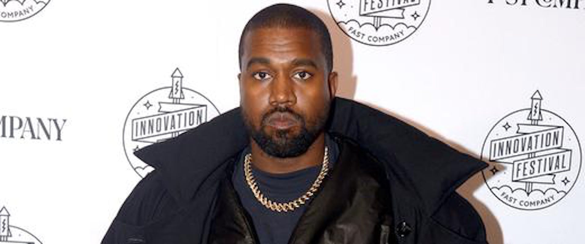 Kanye West attends the Fast Company Innovation Festival in New York City.
